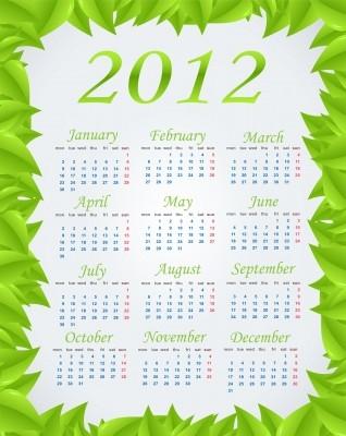 2012 calendar www.123rf.com