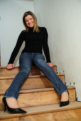 woman on stairs 4409980_s