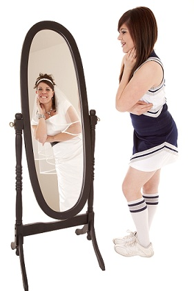 cheerleader and mirror shutterstock_75506425[1]small