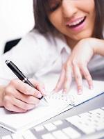 woman writing ID-10098754 by adamr thumb