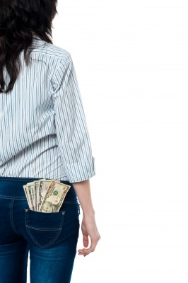 ID-100162954 woman pocket money by stockimages