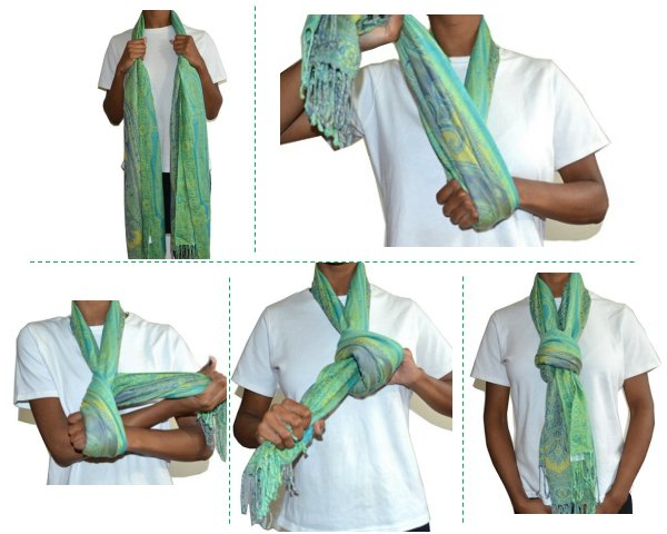 5 ways to stylishly wear your scarf shenow how to tie a scarf into a knot ccuart Choice Image
