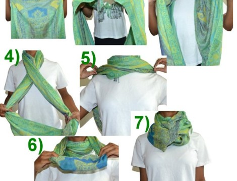how to turtle neck scarf
