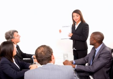 business people talking in a meeting ID-10066400 by ambro