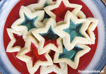 Star-spangled cookies by thehandmadehome.net