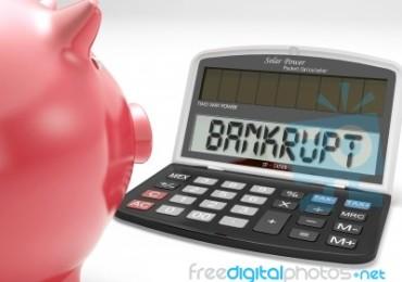 bankrupt-calculator-shows-no-finance-ability-100144076 by stuart miles
