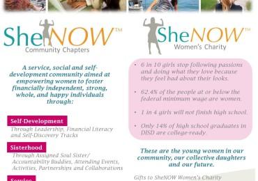 SheNOW and SheNOW Womens Charity Info Sheet jpg