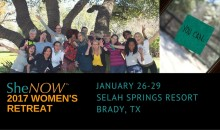 Register NOW! The 2017 SheNOW Women's Retreat!